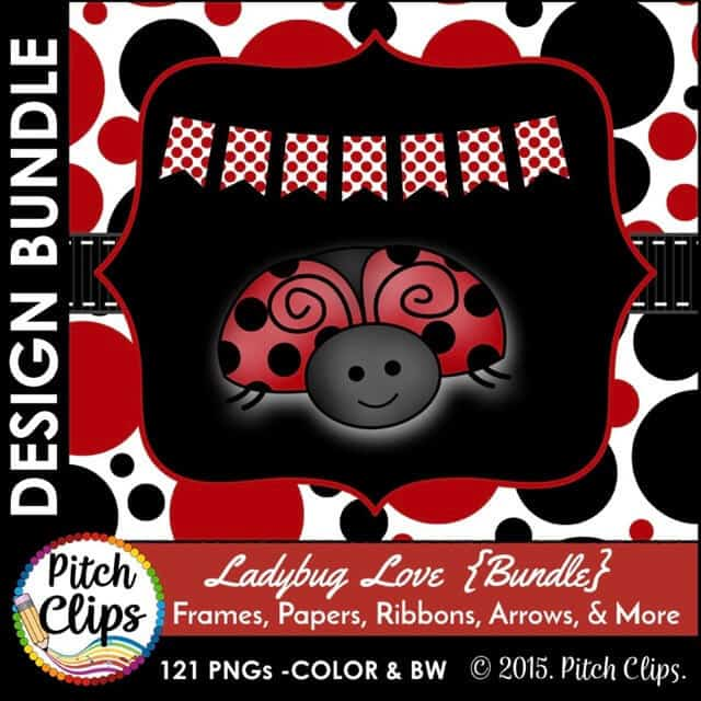Ladybug Love Bundle Preview 1