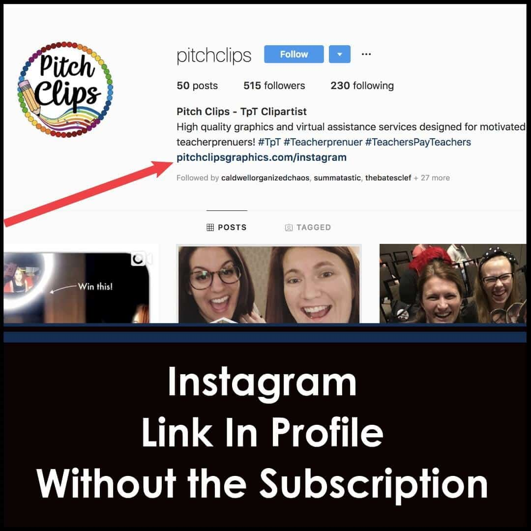 Link in Profile for Instagram without the subscription!