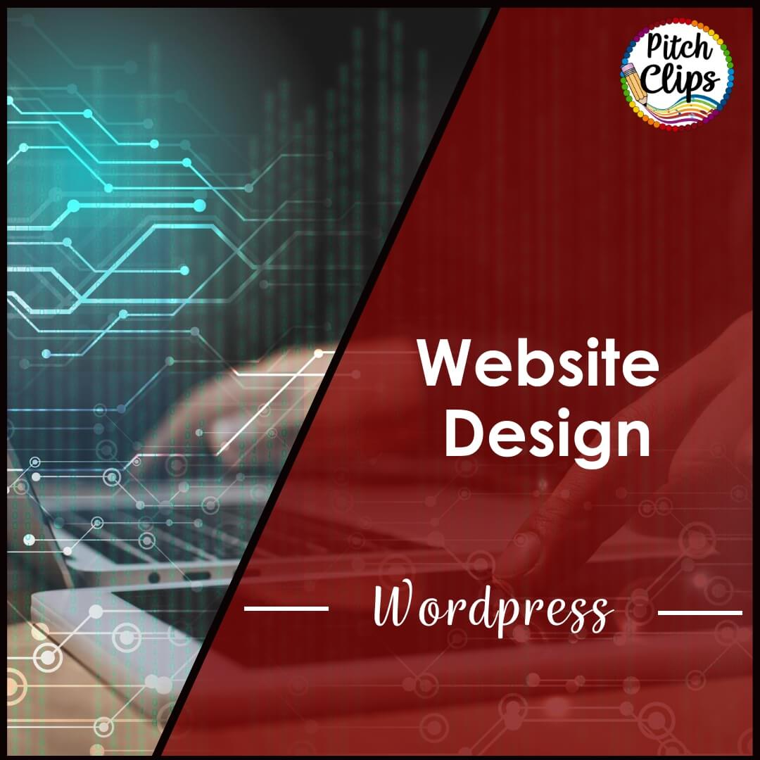 "Picture of someone working on a computer with the words ""Website Design for WordPress"""