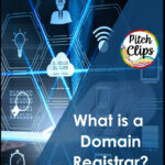 """picture of some website tech images plus text """"What is a Domain Registrar?"""
